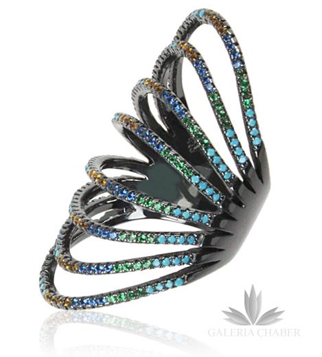 Pierścień Ażurowy Niebieski